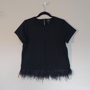 Feather Trim Tee